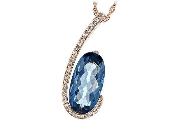 A244-19723: NECK 4.48 LONDON BLUE TOPAZ 4.60 TGW