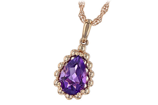 A244-22432: NECKLACE 1.06 CT AMETHYST