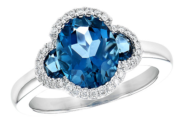 A245-15150: LDS RG 3.04 TW LONDON BLUE TOPAZ 3.20 TGW