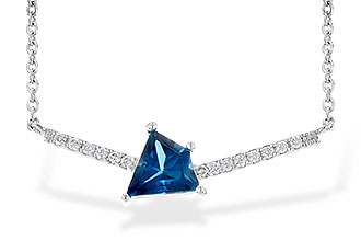 A245-16014: NECK .87 LONDON BLUE TOPAZ .95 TGW