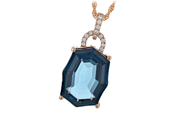 B244-26996: NECK 11.75 LONDON BLUE TOPAZ 11.85 TGW