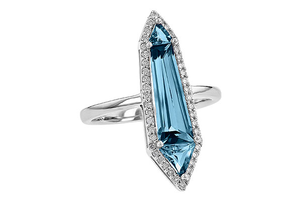 B245-10587: LDS RG 2.20 LONDON BLUE TOPAZ 2.41 TGW