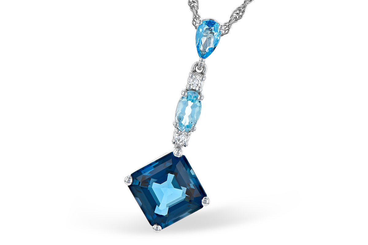 B327-85132: NECK 2.95 TW BLUE TOPAZ 3.00 TGW
