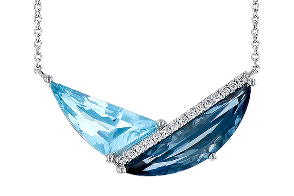 B327-85150: NECK 4.66 BLUE TOPAZ 4.75 TGW
