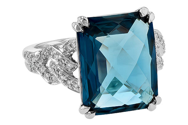 C245-09705: LDS RG 9.40 LONDON BLUE TOPAZ 9.60 TGW