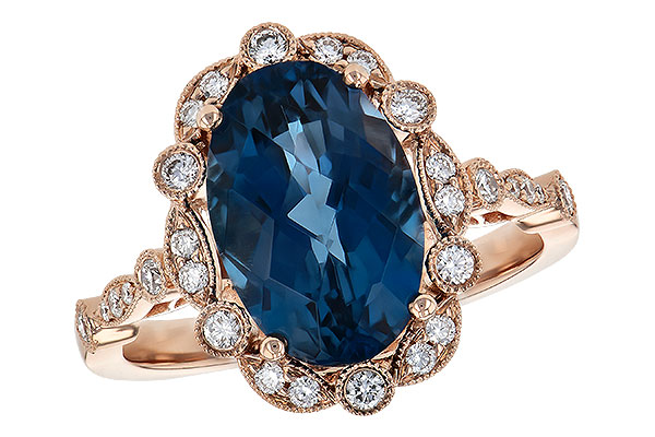 C245-11523: LDS RG 3.80 LONDON BLUE TOPAZ 4.06 TGW