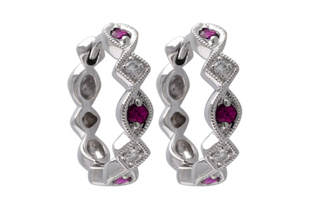 D056-00550: EARRINGS .20 RUBY .25 TGW