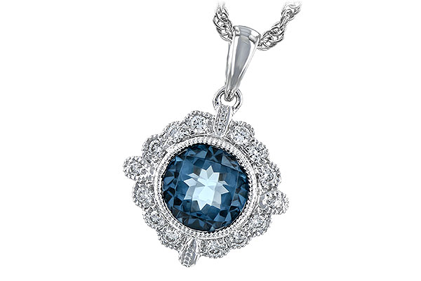 D244-21505: NECK .98 BLUE TOPAZ 1.10 TGW