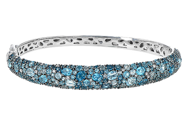 D245-12423: BANGLE 7.60 BLUE TOPAZ 7.85 TGW