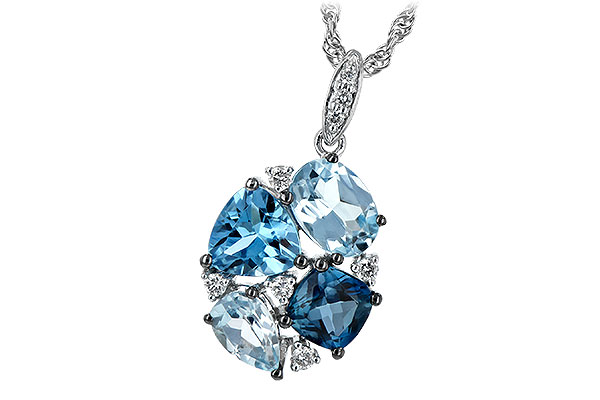 E244-19641: NECK 2.60 BLUE TOPAZ 2.70 TGW