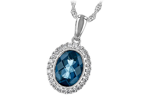 F244-19650: NECK 1.28 LONDON BLUE TOPAZ 1.41 TGW