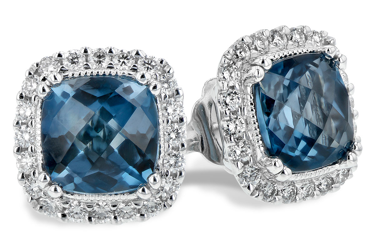 F244-19659: EARR 2.14 LONDON BLUE TOPAZ 2.40 TGW