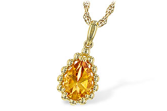 F244-22432: NECKLACE 1.06 CT CITRINE