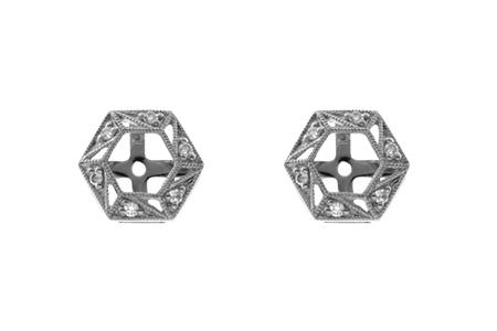 G055-17832: EARRING JACKETS .08 TW (FOR 0.50-1.00 CT TW STUDS)