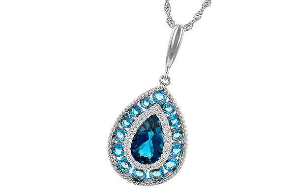G245-13341: NECK 2.55 TW BLUE TOPAZ 2.65 TGW