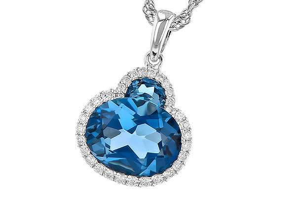 G327-88804: NECK 2.86 LONDON BLUE TOPAZ 3.00 TGW (10X8 OVAL)