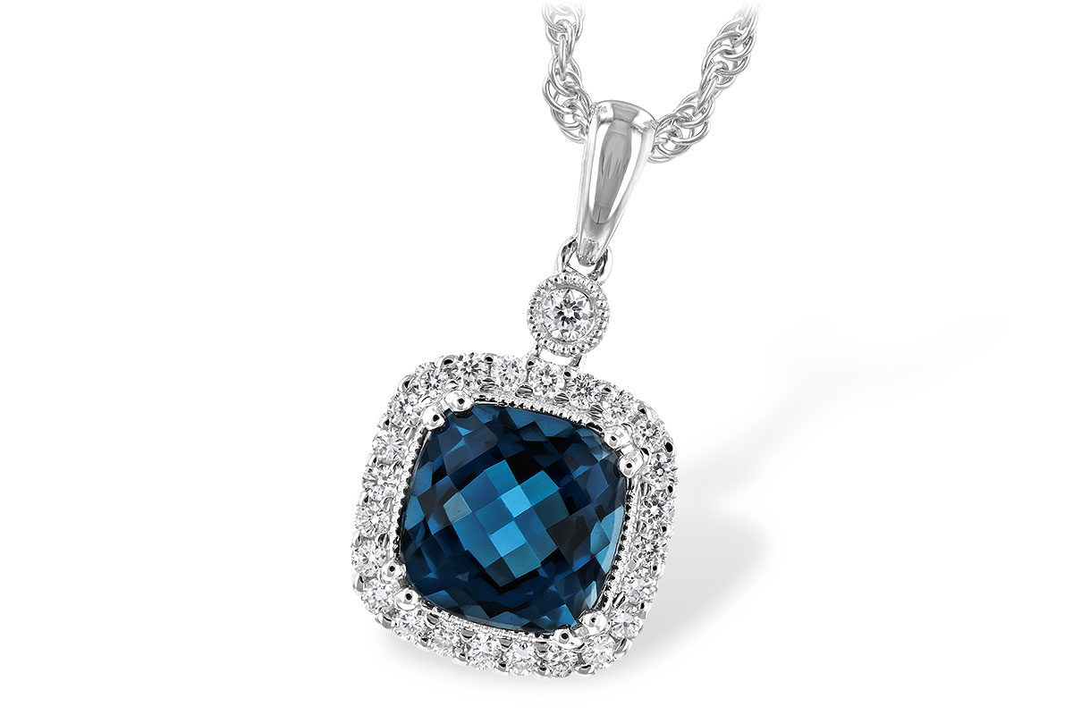 H244-19641: NECK 1.63 LONDON BLUE TOPAZ 1.80 TGW