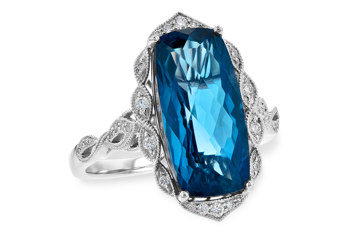 H245-10550: LDS RG 6.75 LONDON BLUE TOPAZ 6.90 TGW