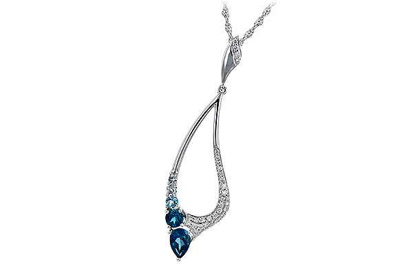 K244-25104: NECK .83 BLUE TOPAZ 1.00 TGW