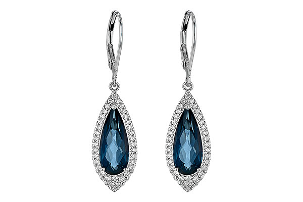 K245-10550: EARR 5.05 LONDON BLUE TOPAZ 5.42 TGW