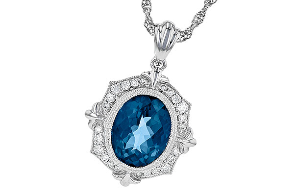 K245-16922: NECK 3.00 LONDON BLUE TOPAZ 3.16 TGW
