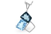 L243-34213: NECK 10.60 BLUE TOPAZ 10.73 TGW