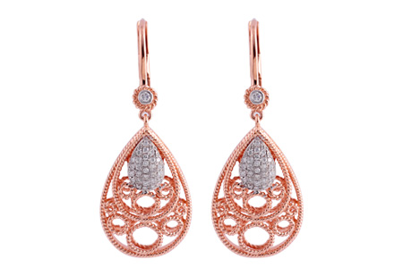 M239-64213: EARRINGS .18 TW