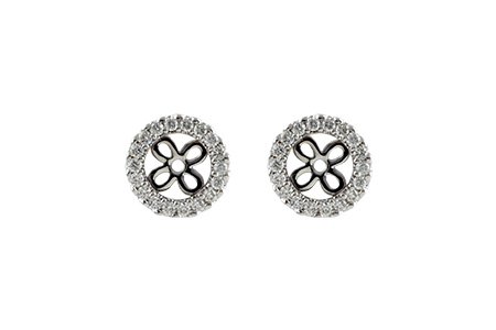 M242-40559: EARRING JACKETS .24 TW (FOR 0.75-1.00 CT TW STUDS)
