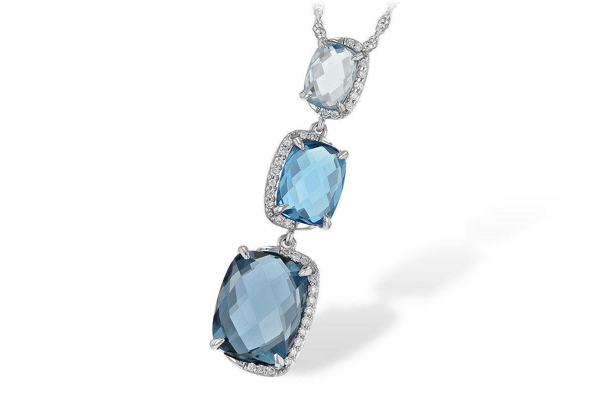 M243-34240: NECK 8.71 BLUE TOPAZ 8.89 TGW