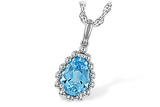 M244-22440: NECKLACE 1.55 CT BLUE TOPAZ