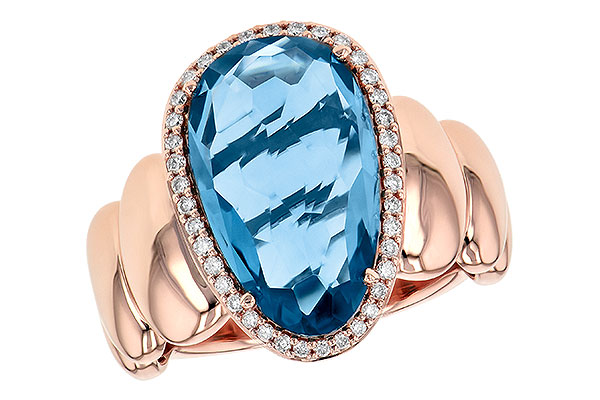 M245-16959: LDS RG 6.30 LONDON BLUE TOPAZ 6.47 TGW