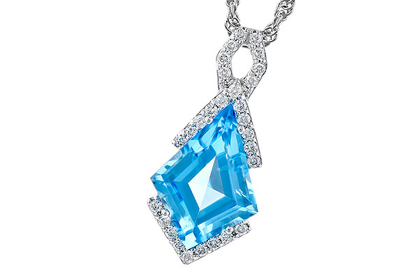 M327-84186: NECK 2.40 BLUE TOPAZ 2.53 TGW